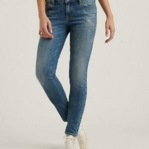 Lucky Brand Lolita skinny floral stitched …